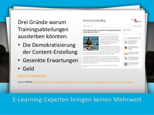 Drei Gründe warum Trainingsabteilungen aussterben könnten: • Die Demokratisierung der Content-Erstellung • Gesenkte Erwart...