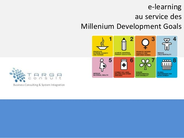 e-learningau service desMillenium Development GoalsBusiness Consulting & System Integration