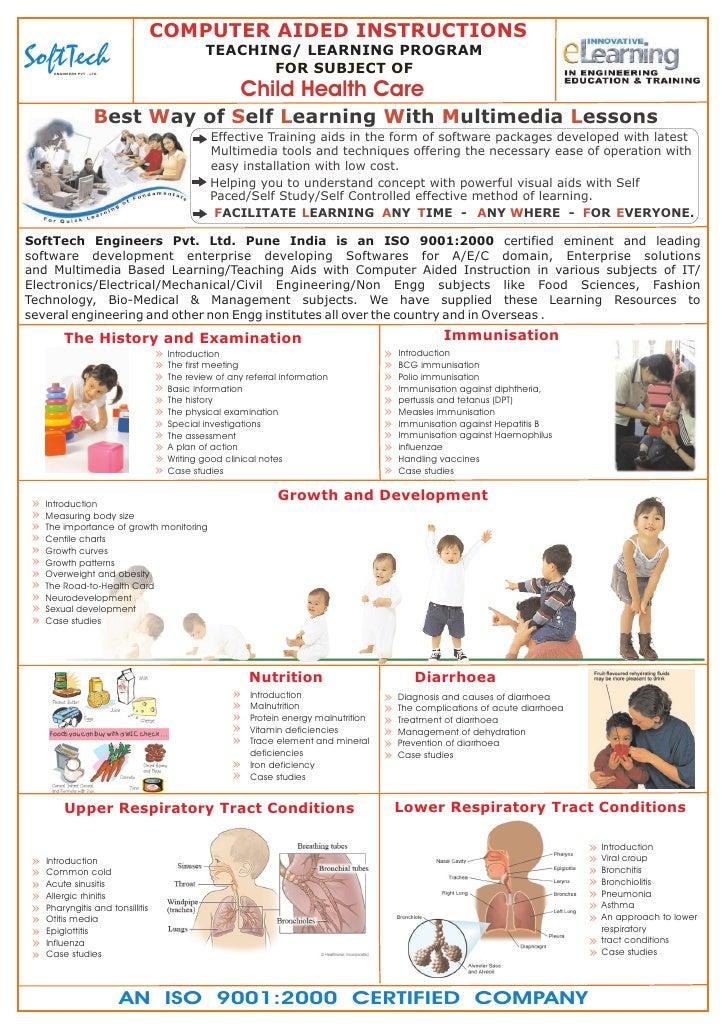 E learning brochure_child health care