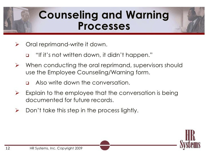 Elearning Coaching and Progressive Discipline – Employee Counseling Form