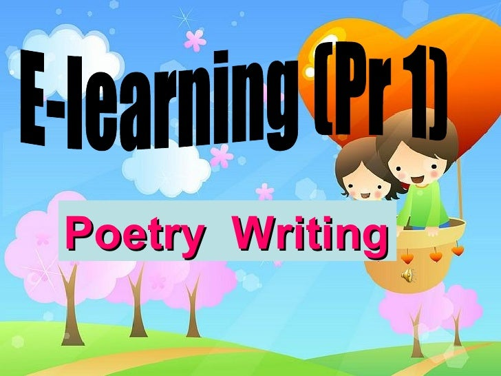 Poetry  Writing E-learning (Pr 1)