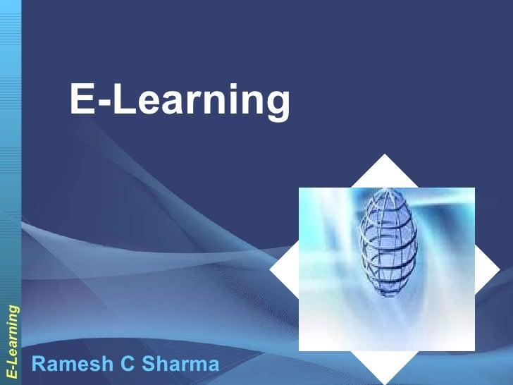E-Learning Ramesh C Sharma