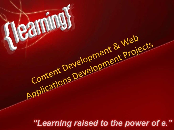 Select Developed Projects         e-learning content development