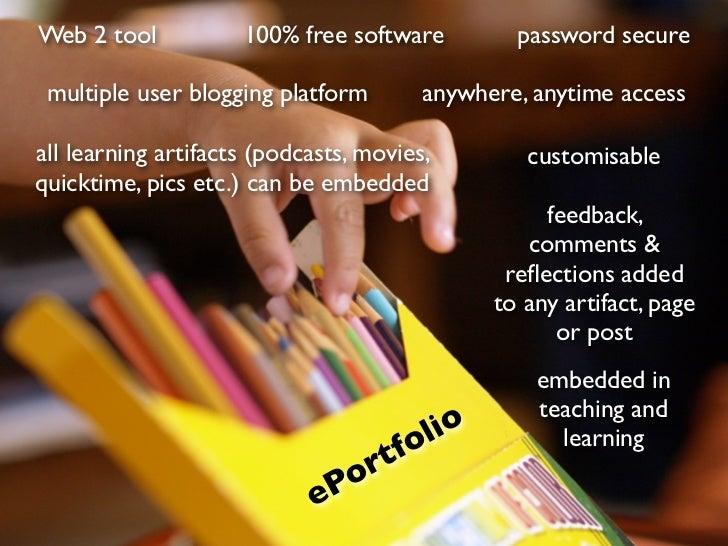 eLearning ePortfolios