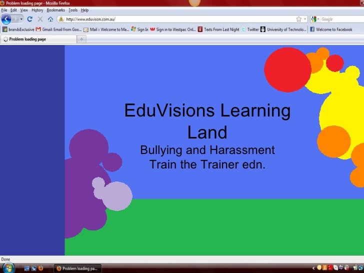 EduVisions Learning Land Bullying and Harassment Train the Trainer edn.