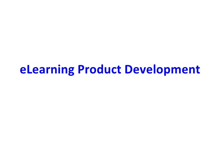 eLearning Product Development