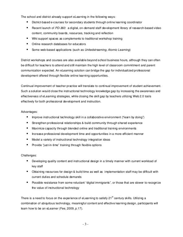 E learning thesis proposal