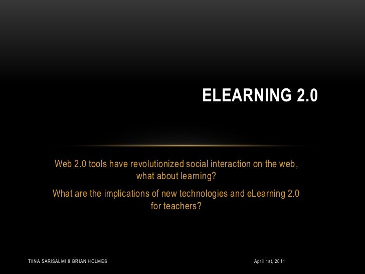 Web 2.0 tools have revolutionized social interaction on the web,  what about learning? <br />What are the implications of ...