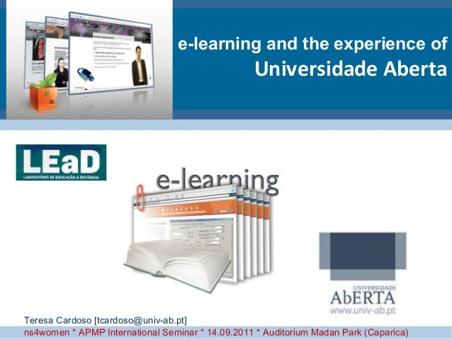 e-learning and the experience of                                                  Universidade AbertaTeresa Cardoso [tcard...