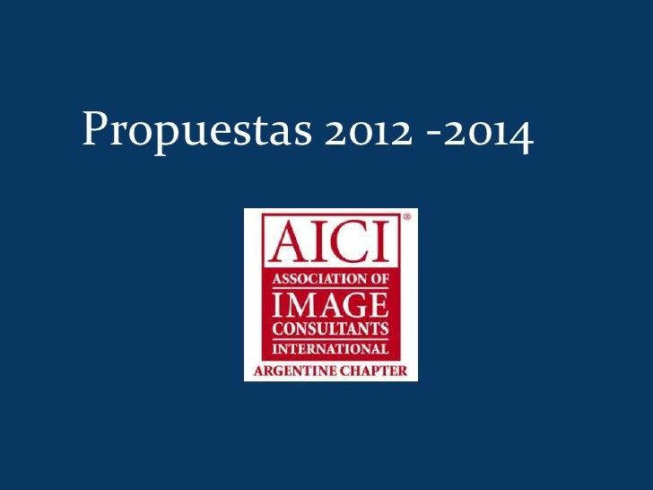 Propuestas 2012 -2014
