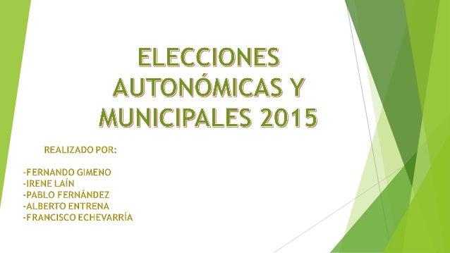 INTRODUCCIÓN CON MOTIVO DE LAS ELECCIONES PARA LA PRESIDENCIA DE LAS CCAA Y LAS ALCALDIAS DE LOS MUNICIPIOS HEMOS REALIZAD...