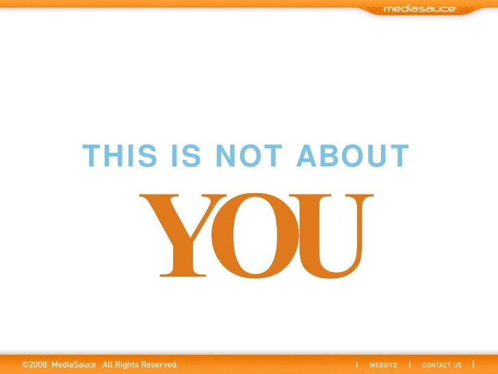 THIS IS NOT ABOUT YOU