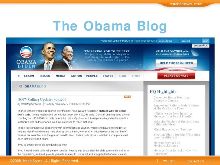The Obama Blog