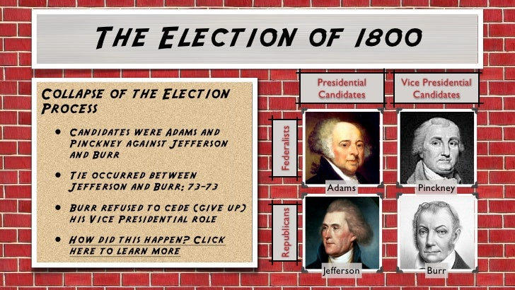 election of 1800 revolution essay The revolution of 1800: the presidential election that tested the united states  the election of 1800,  historynetcom is brought to you by world history.