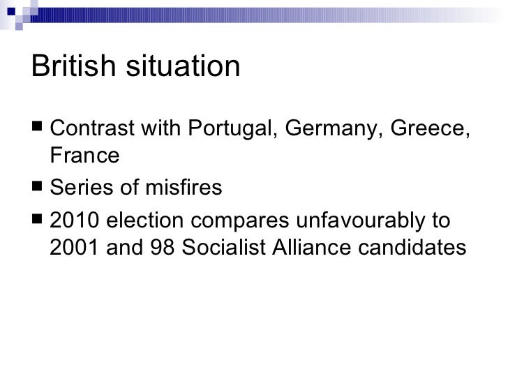 British situation <ul><li>Contrast with Portugal, Germany, Greece, France </li></ul><ul><li>Series of misfires </li></ul><...