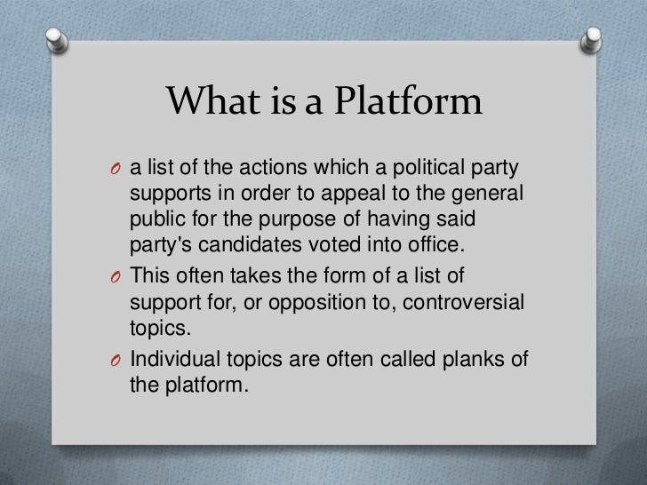 Election 2011 Platforms