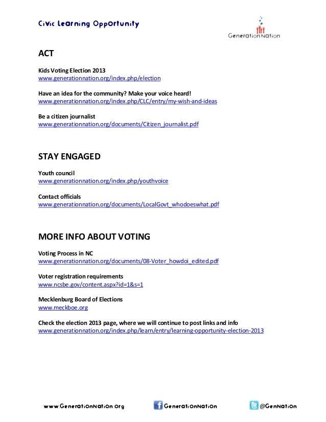 Election 2013 activities