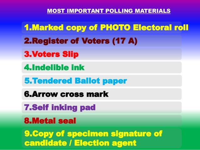 special tag most important polling materials 33