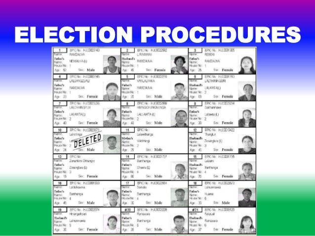 election procedure in india