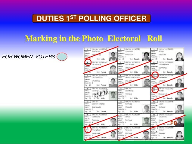 india election 2014 duty of polling officers rh slideshare net
