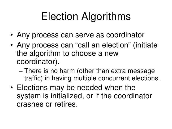 Election algorithms.