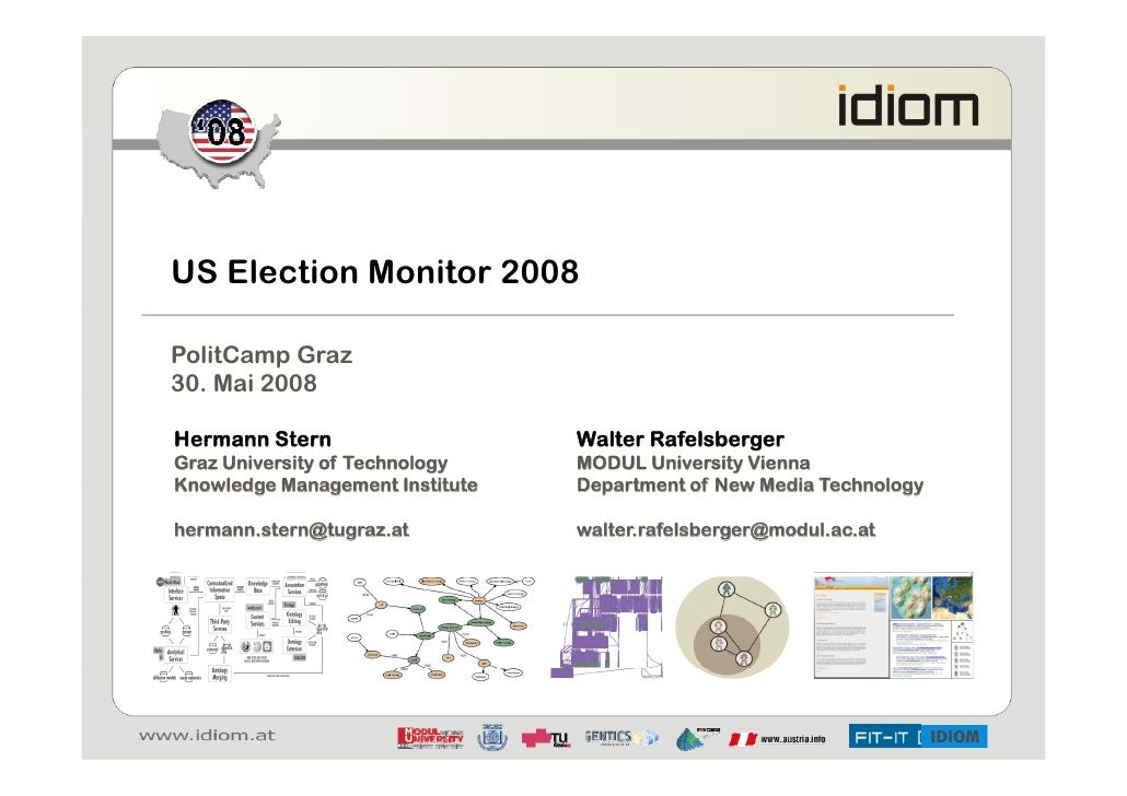 US Election Monitor 2008  PolitCamp Graz 30. Mai 2008  Hermann Stern                    Walter Rafelsberger Graz Universit...