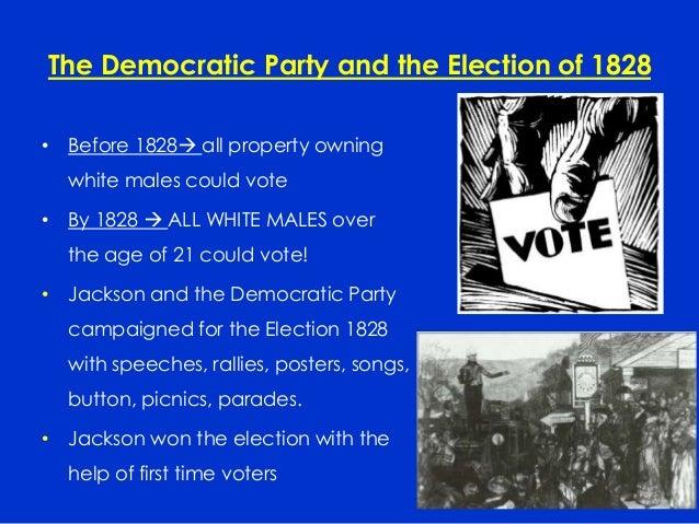 andrew jackson campaign speech of 1828 essay Dbq- how democratic was the jacksonian era midterm dbq  andrew jackson  aj first man to campaign in an election used rallies, speeches, picnics, slogans,.