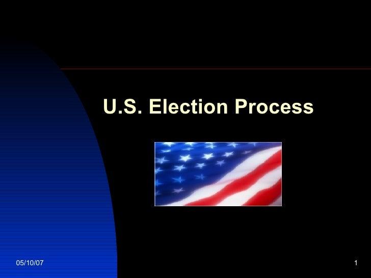 U.S. Election Process