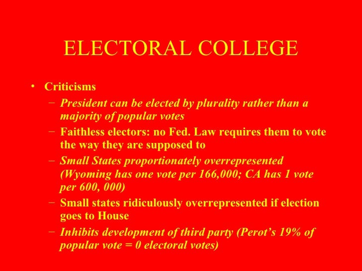 elections and campaigns electoral college