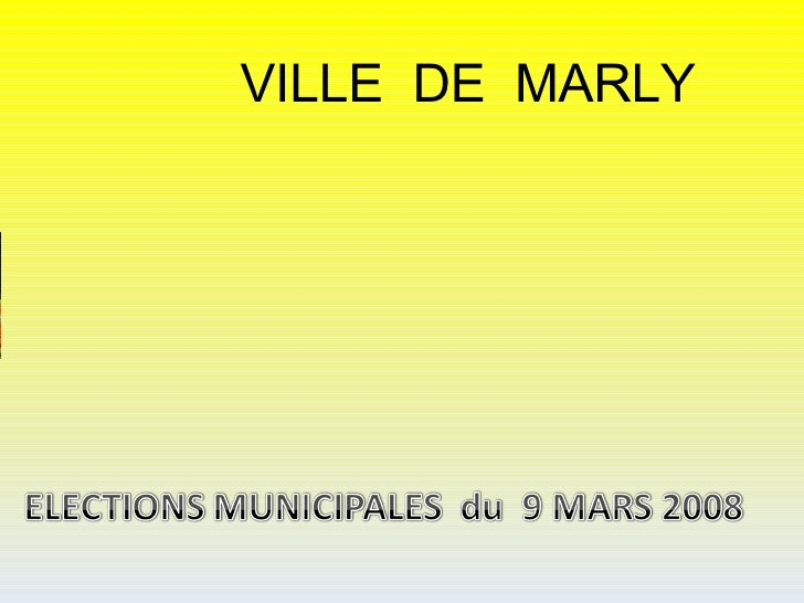 VILLE DE MARLY