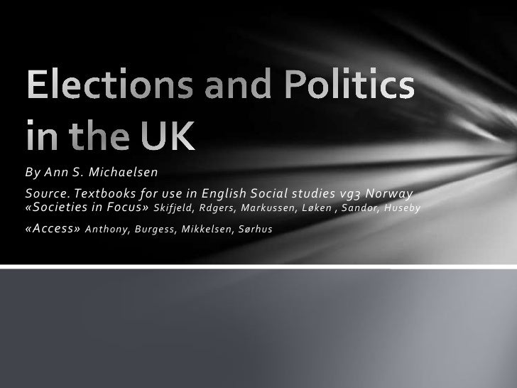 By Ann S. Michaelsen<br />Source. Textbooks for use in English Social studies vg3 Norway«Societies in Focus» Skifjeld, Rdg...