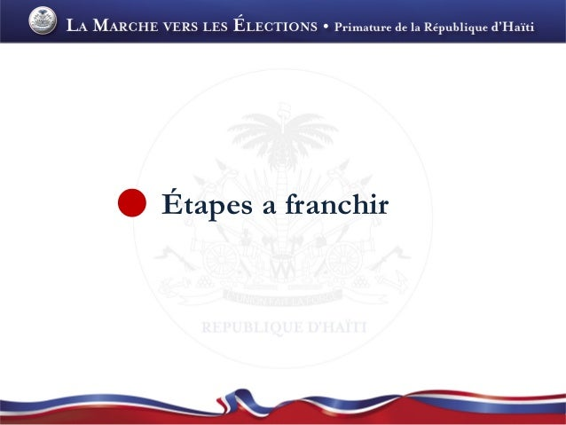 Étapes a franchir