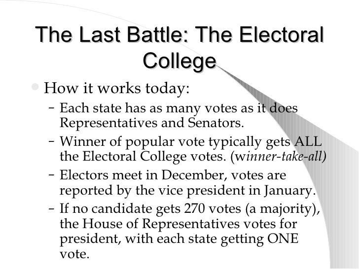 a choice between electoral or popular voting in college The electoral college  which could—but were not required to—base their choice on a popular vote for  a clearcut divergence between the electoral and popular.