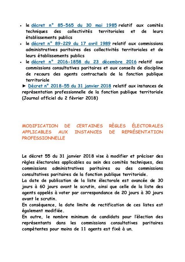 Elections professionnelles fonction publique territoriale - Grille d avancement fonction publique territoriale ...