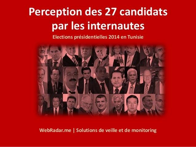 Perception des 27 candidats  par les internautes  Elections présidentielles 2014 en Tunisie  WebRadar.me | Solutions de ve...