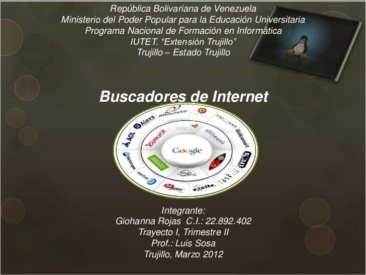 República Bolivariana de VenezuelaMinisterio del Poder Popular para la Educación Universitaria      Programa Nacional de F...