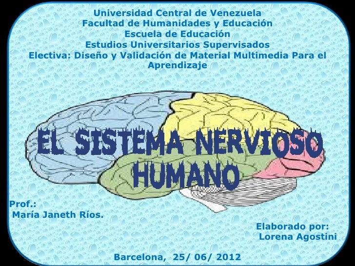 Universidad Central de Venezuela              Facultad de Humanidades y Educación                       Escuela de Educaci...