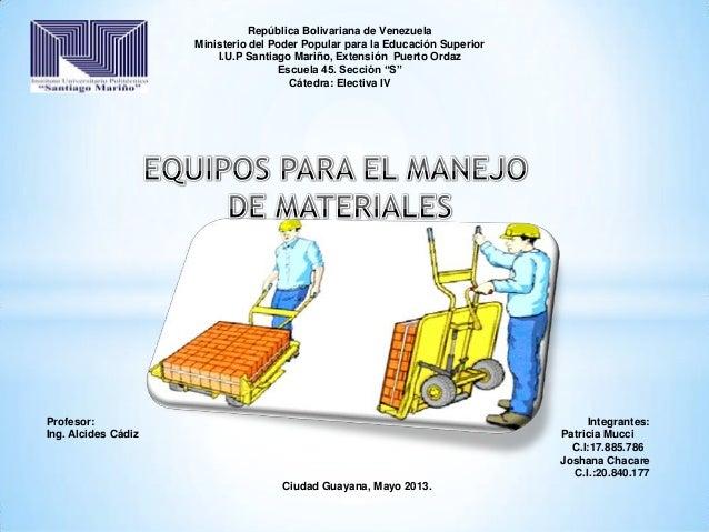 República Bolivariana de VenezuelaMinisterio del Poder Popular para la Educación SuperiorI.U.P Santiago Mariño, Extensión ...