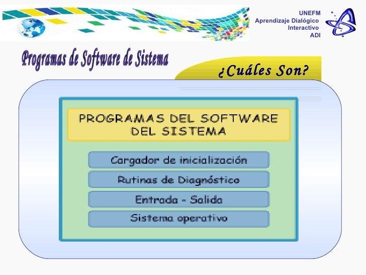 Programas de software del sistema  UNEFM Aprendizaje Dialógico  Interactivo  ADI Programas de Software de Sistema ¿Cuáles ...