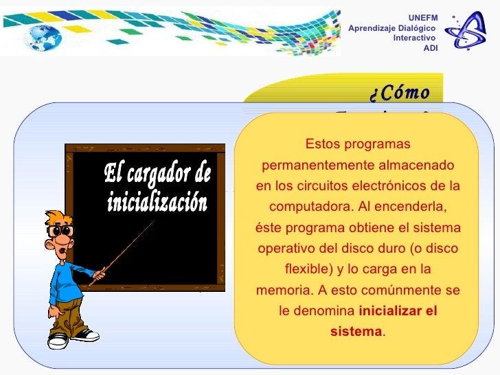 Programas de software del sistema  UNEFM Aprendizaje Dialógico  Interactivo  ADI ¿Cómo Funciona? Estos programas permanent...