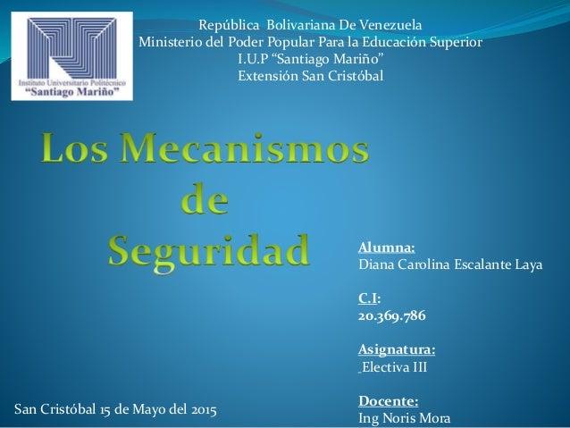 "República Bolivariana De Venezuela Ministerio del Poder Popular Para la Educación Superior I.U.P ""Santiago Mariño"" Extensi..."