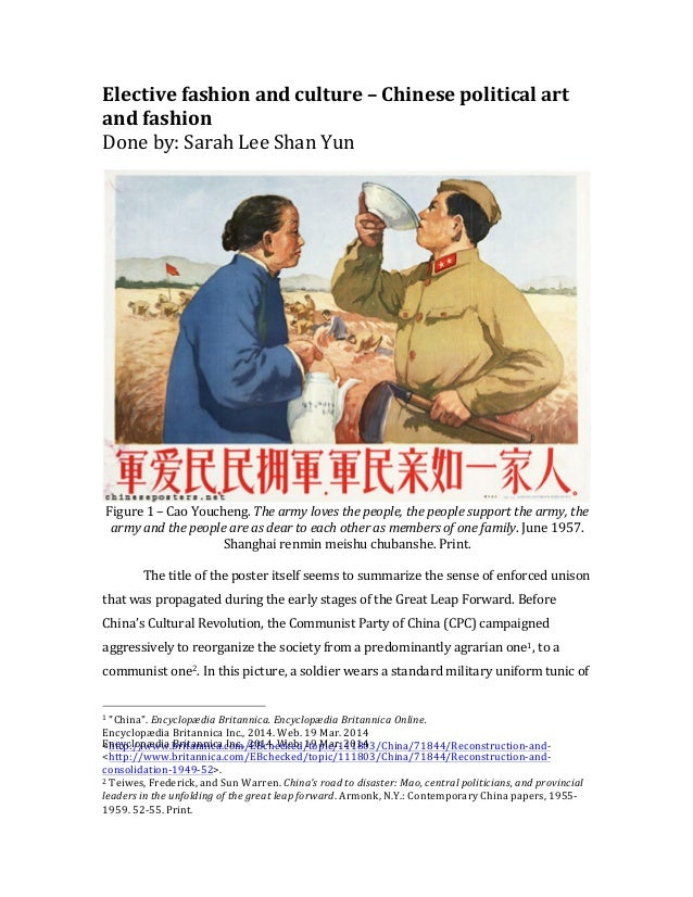 Elective  fashion  and  culture  –  Chinese  political  art   and  fashion   Done  by:  Sarah  L...