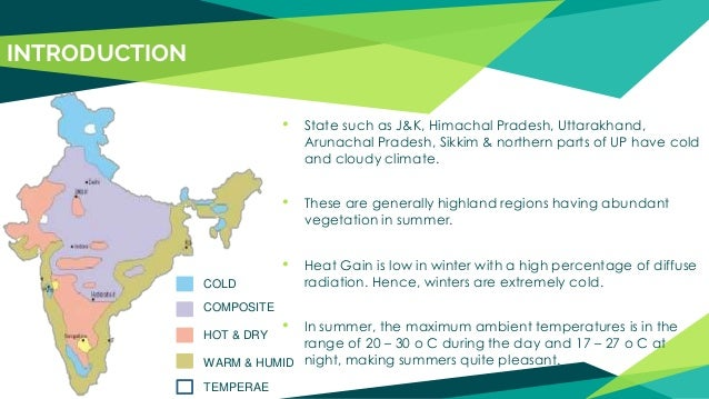 Cold and Cloudy climatic region India Map With State Climets on