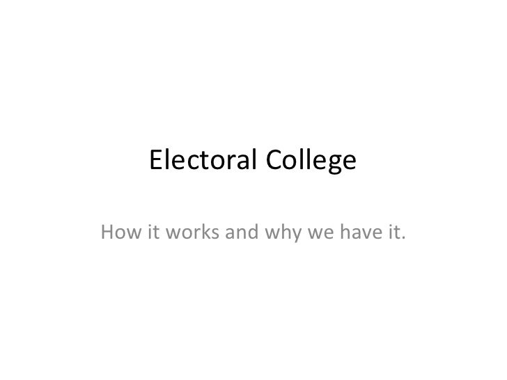 Electoral College<br />How it works and why we have it.<br />