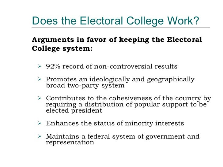 Electoral college thesis