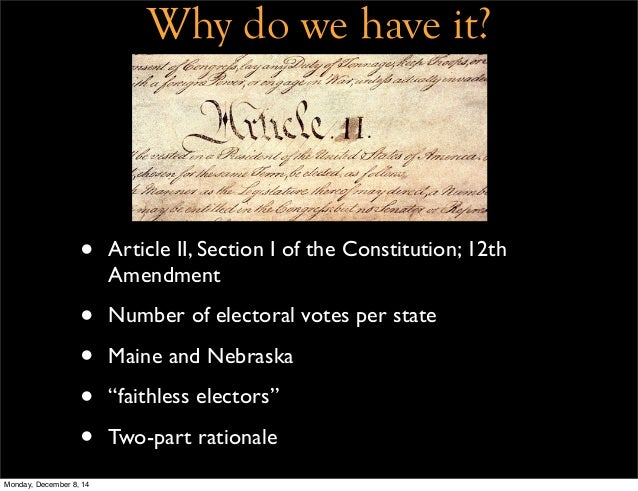 an introduction to the analysis of the electoral college When americans vote for a president and vice president, they are actually voting  for presidential electors, known collectively as the electoral college it is these.