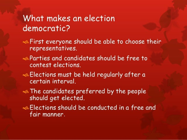 Electoral politics class IX Slide 3