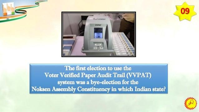 QUIZ ON ELECTORAL PROCESS & DEMOCRACY IN INDIA (MAINS)