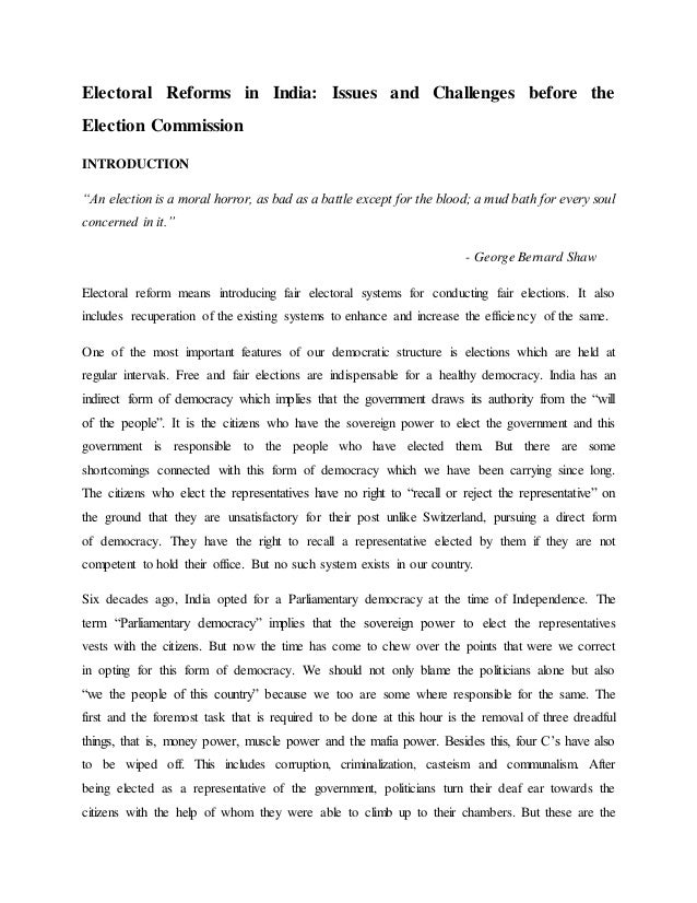 essay on education for democracy in india Essay on democracy sat mar 15, 2008 6:26 am many democracies agree to this arguemnt of complexiteis in a democracy india, for example, has not been able to implement stern actions which it so badly needs to overcome poverty and over-population.