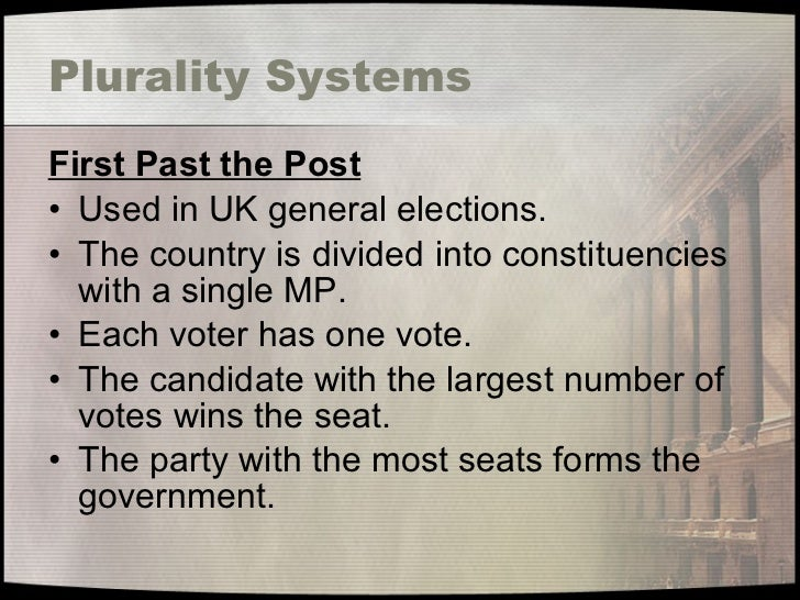 an overview of the british electoral system Germany's voting system is complicated, to the point that not even most germans completely understand it but it is one of the fairest around here is a brief.